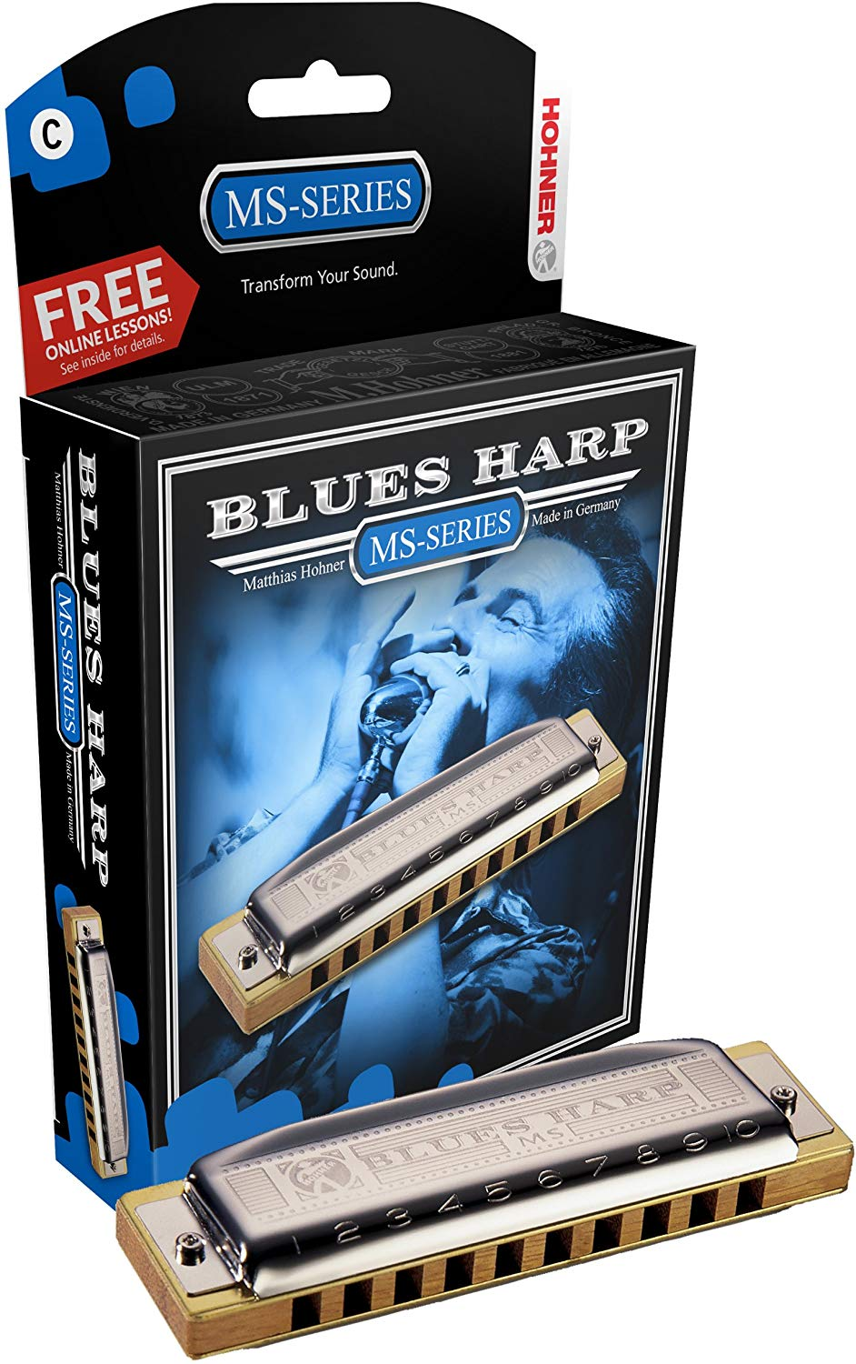 Hohner 532BX-C Blues Harp - Key Of C Major