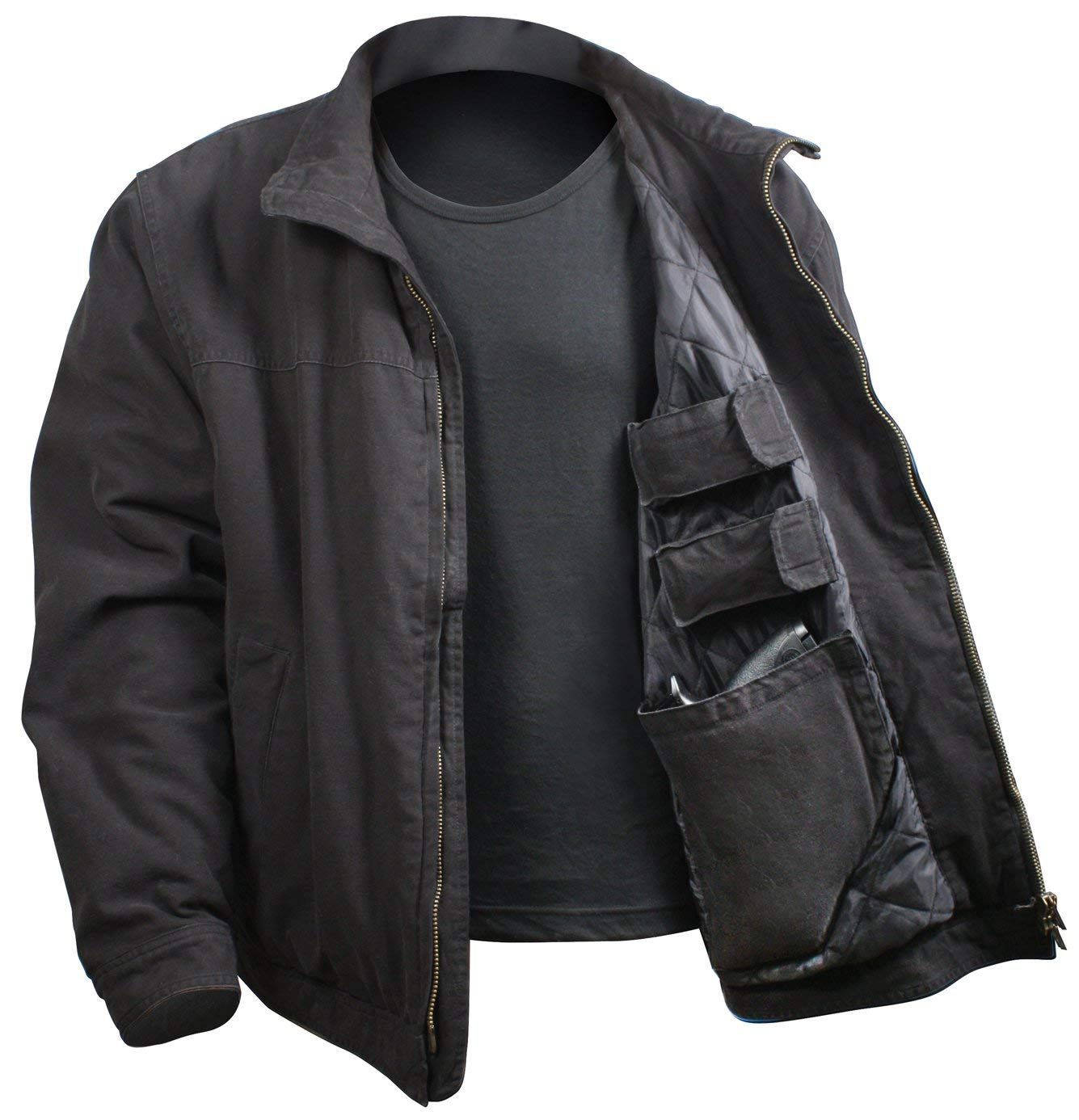 Rothco 3 Season Concealed Carry Jacket - Black - Large - 5385-BLACK-L