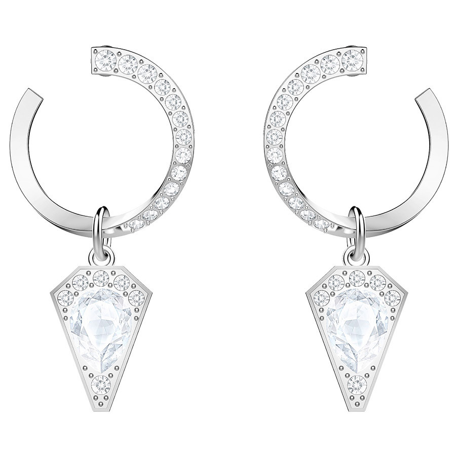 166e13a3d Swarovski Lucy Kite Pierced Earrings - White - Rhodium Plating - 5393207