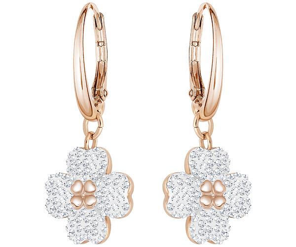 7b48449b6 Swarovski Latisha Pierced Earrings - White - Rose gold Plating - 5420249