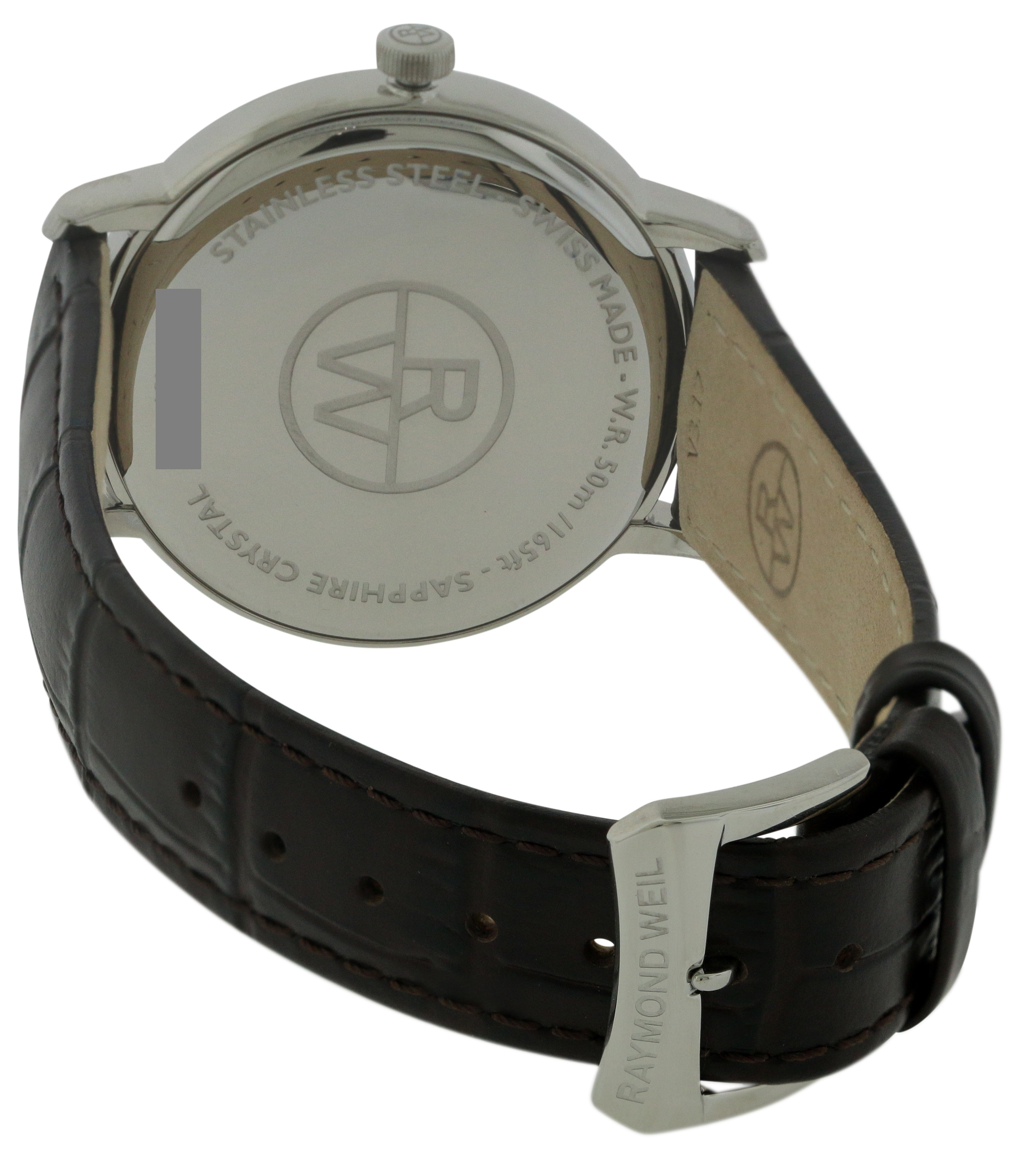 c36d5e5e2 Raymond Weil Toccata Leather Mens Watch 5488-STC-40001, Solar Time Inc