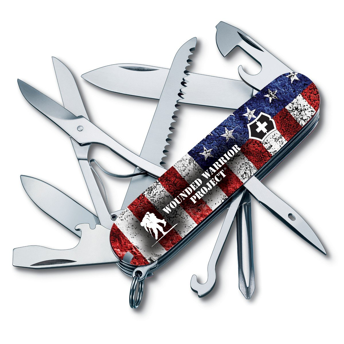 Victorinox Swiss Army Multi-Tool Fieldmaster Pocket Knife - US Flag