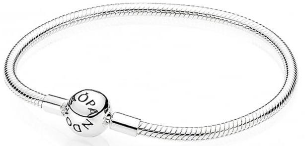 dc348c564 PANDORA Smooth Silver Clasp Bracelet - 590728-17, Solar Time Inc