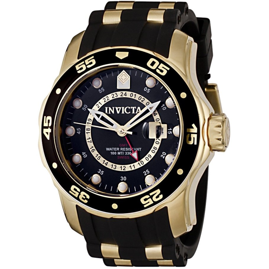 Invicta Pro Diver GMT Polyurethane Mens Watch 6991