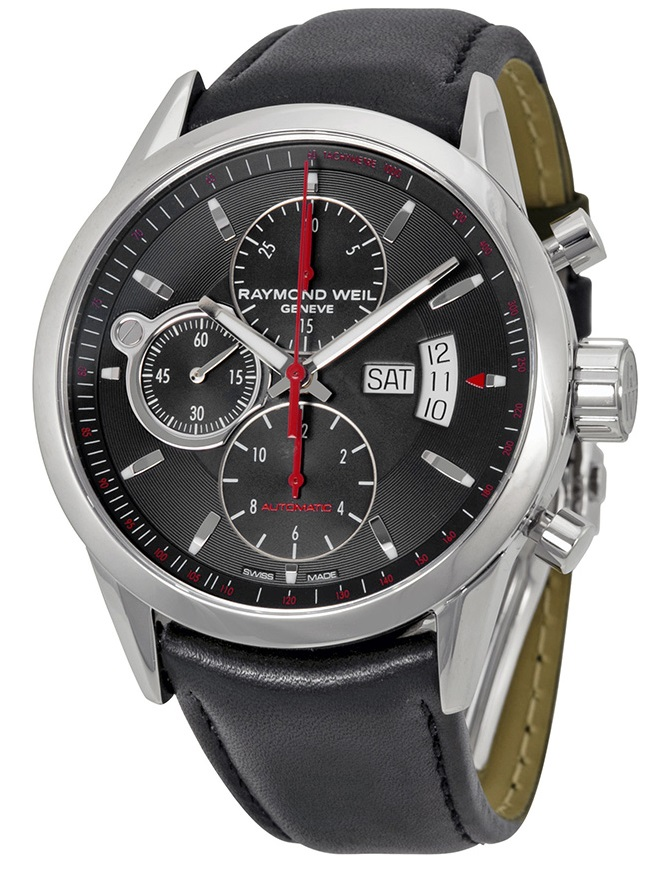 Raymond Weil Freelancer Chronograph Automatic Leather Mens Watch 7730-STC-60112