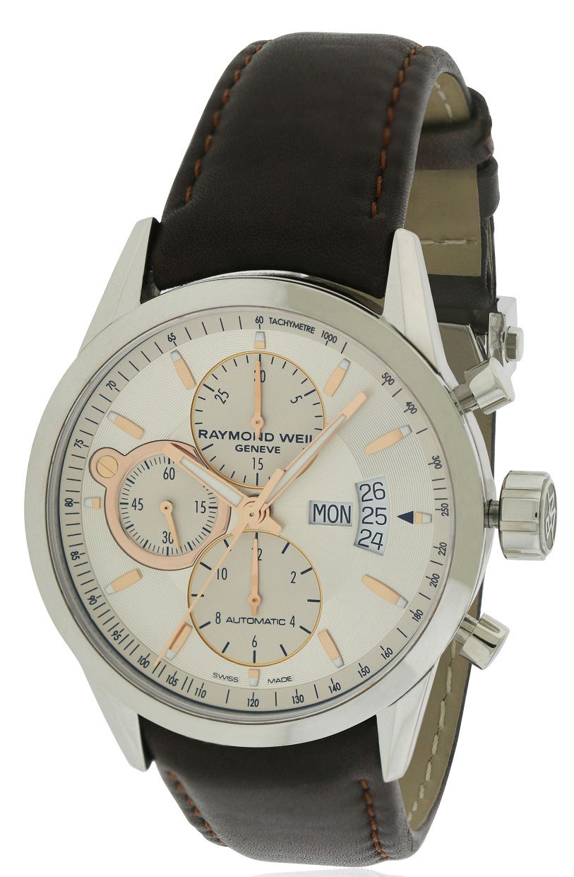 Raymond Weil Freelancer Leather Automatic Mens Watch 7730-STC-65025
