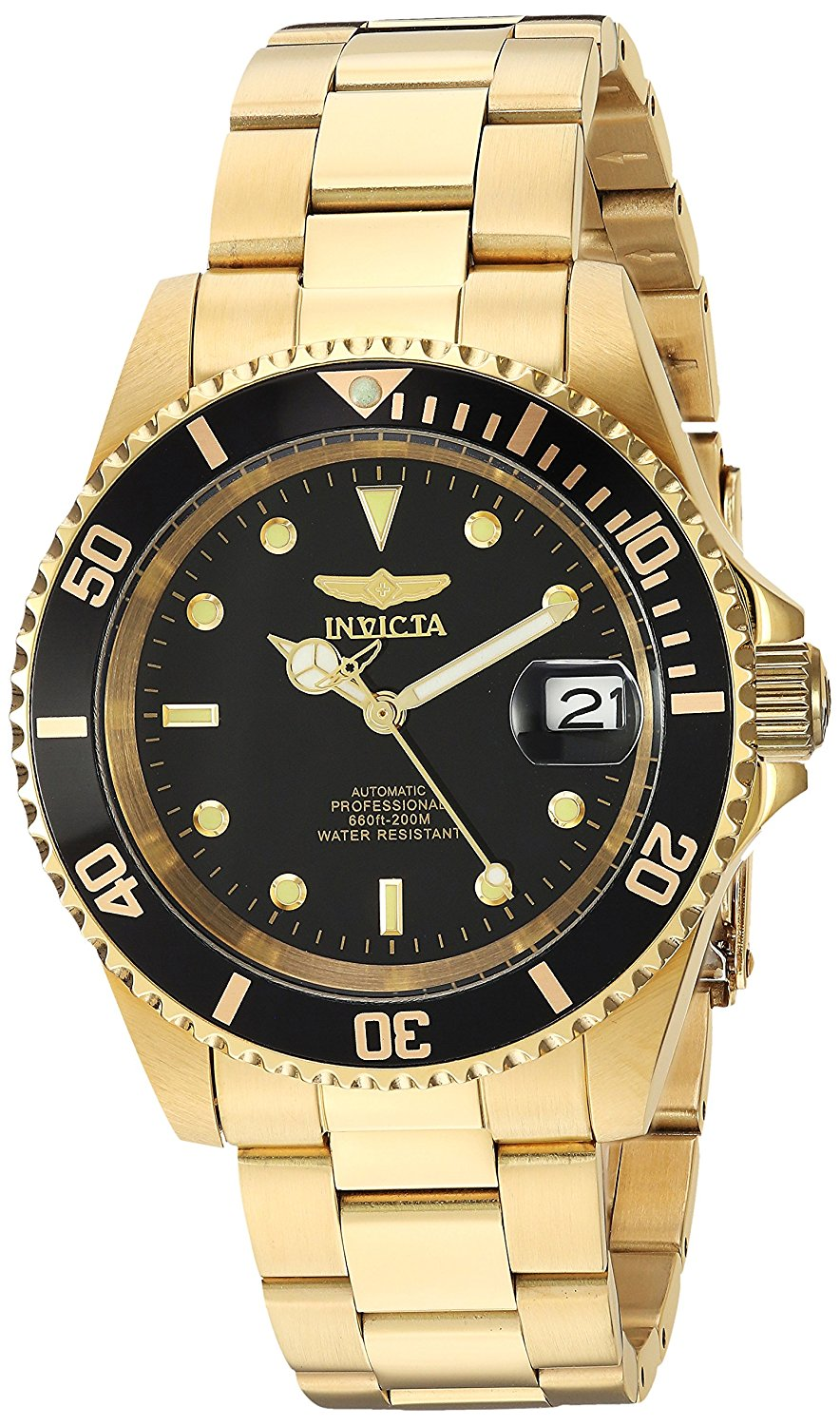 Invicta Pro Diver Gold-Tone Stainless Steel  Automatic Mens Watch 8929OB