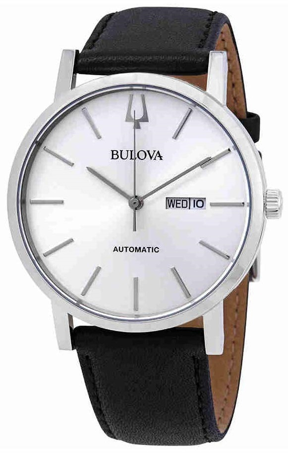 Bulova Classic Automatic Leather Mens Watch 96C130