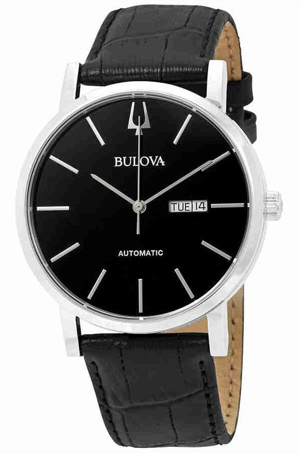 Bulova Classic Automatic Leather Mens Watch 96C131