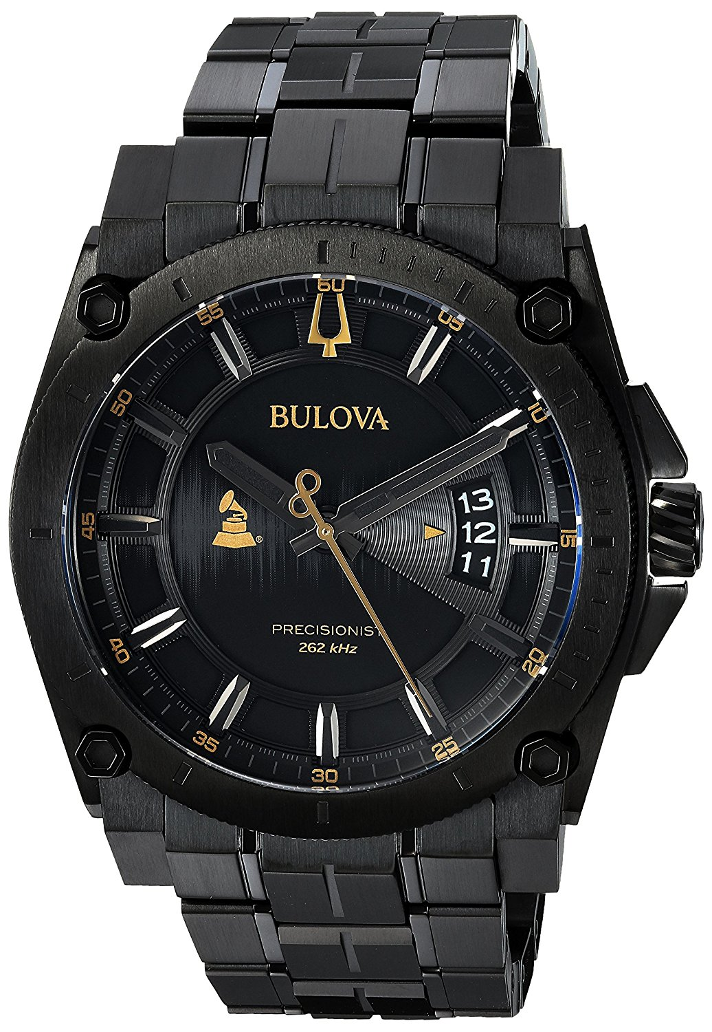 Bulova  Special Grammy Edition Precisionist Black Stainless Steel Mens Watch 98B295