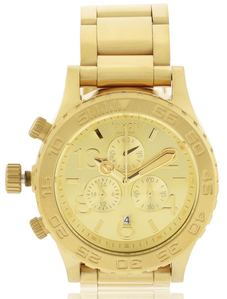 Nixon The 42-20 Gold-Tone Chronograph Mens Watch A037502-00