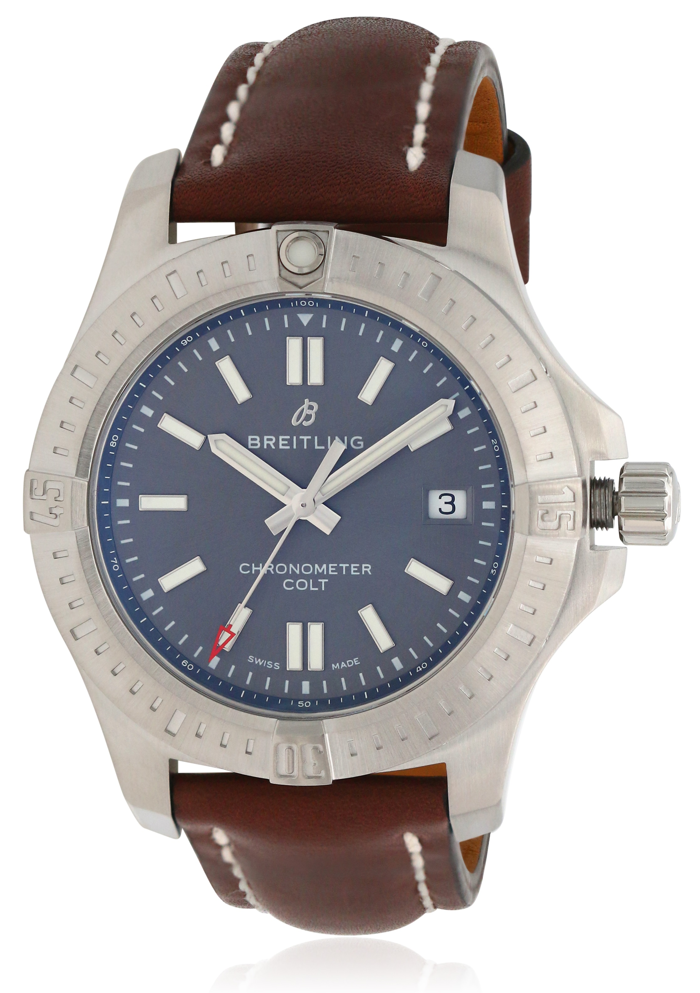Breitling Colt Automatic Chronometer Leather Mens Watch A17313101F1X2