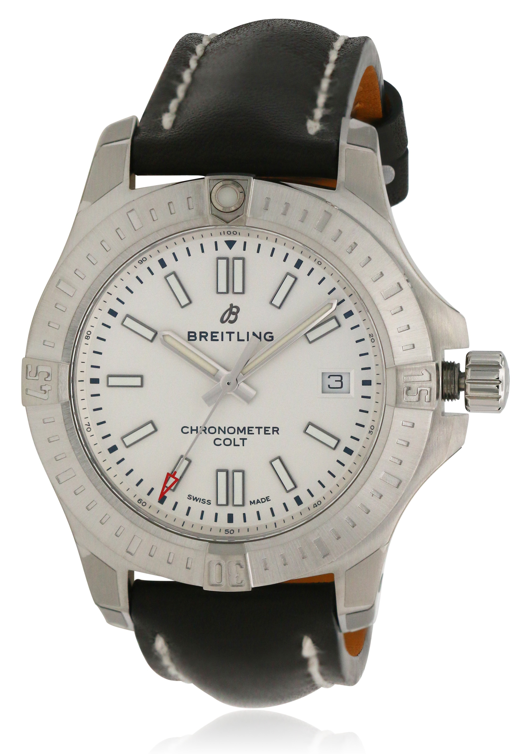 Breitling Chronomat Colt Automatic Leather Mens Watch A17313101G1X1
