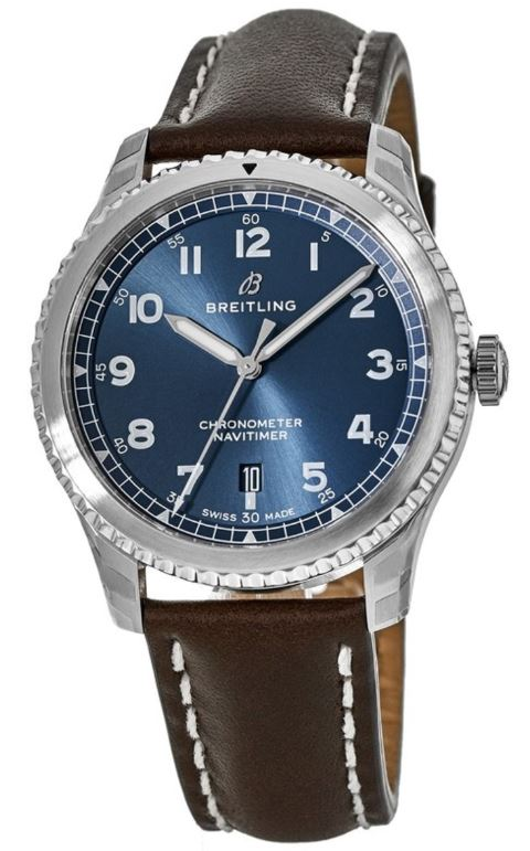 Breitling Navitimer 8 Automatic Chronometer Leather Mens Watch A1731410-C998-495X-A18BASA.6