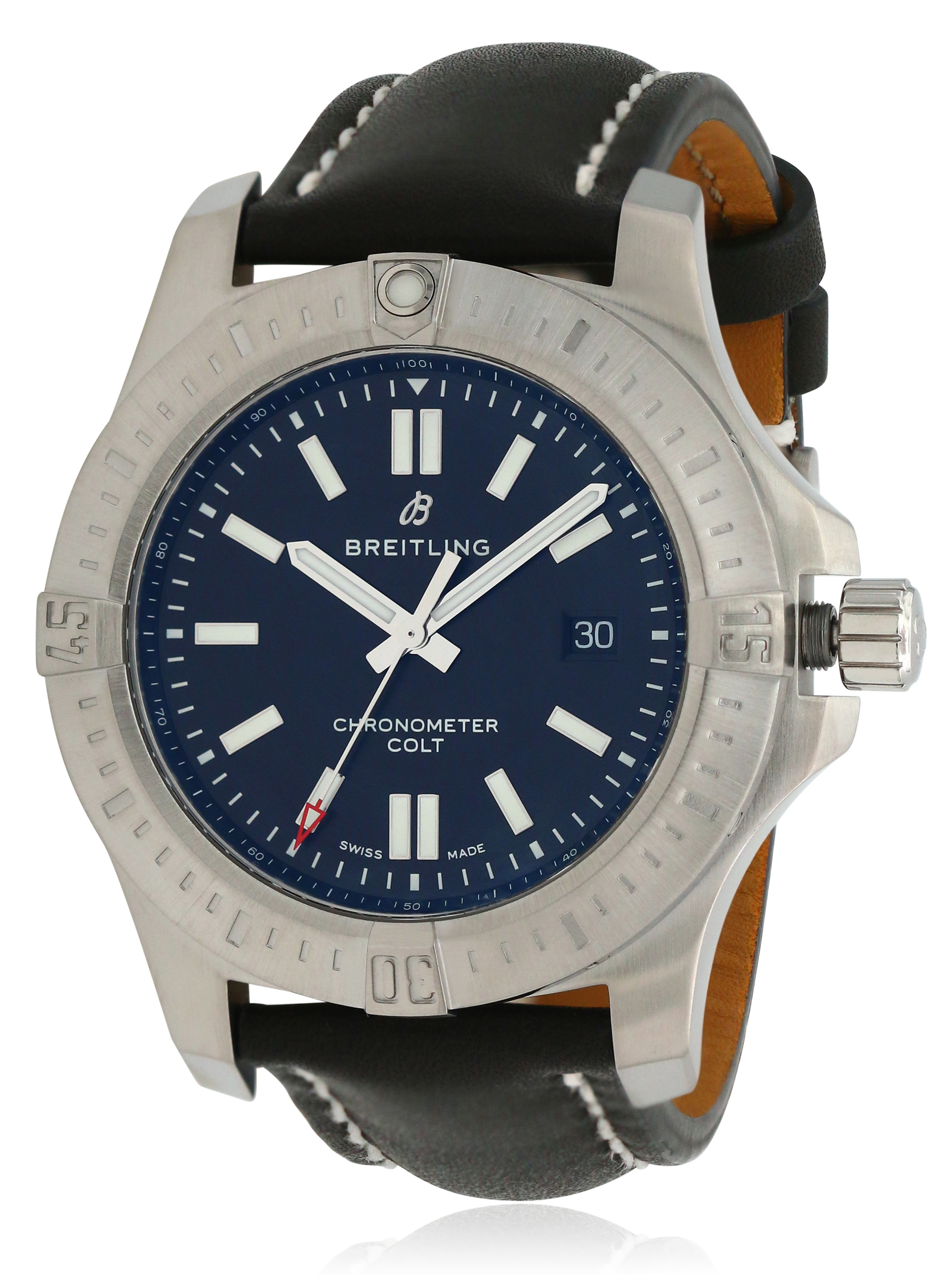 Breitling Chronomat Colt Automatic Leather Mens Watch A17388101B1X1