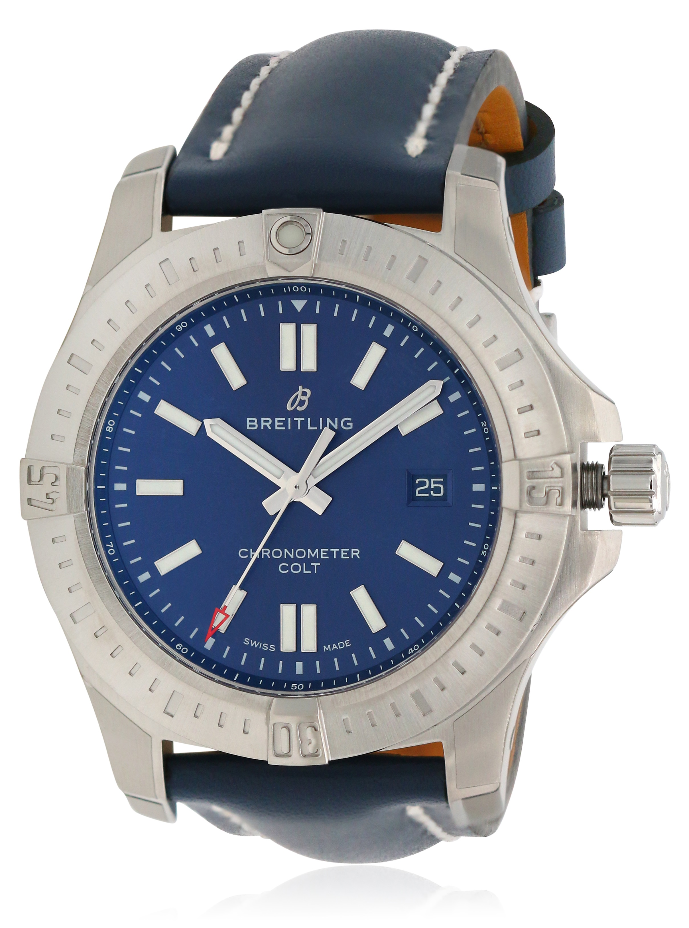 Breitling Chronomat Colt Automatic Leather Mens Watch A17388101C1X1