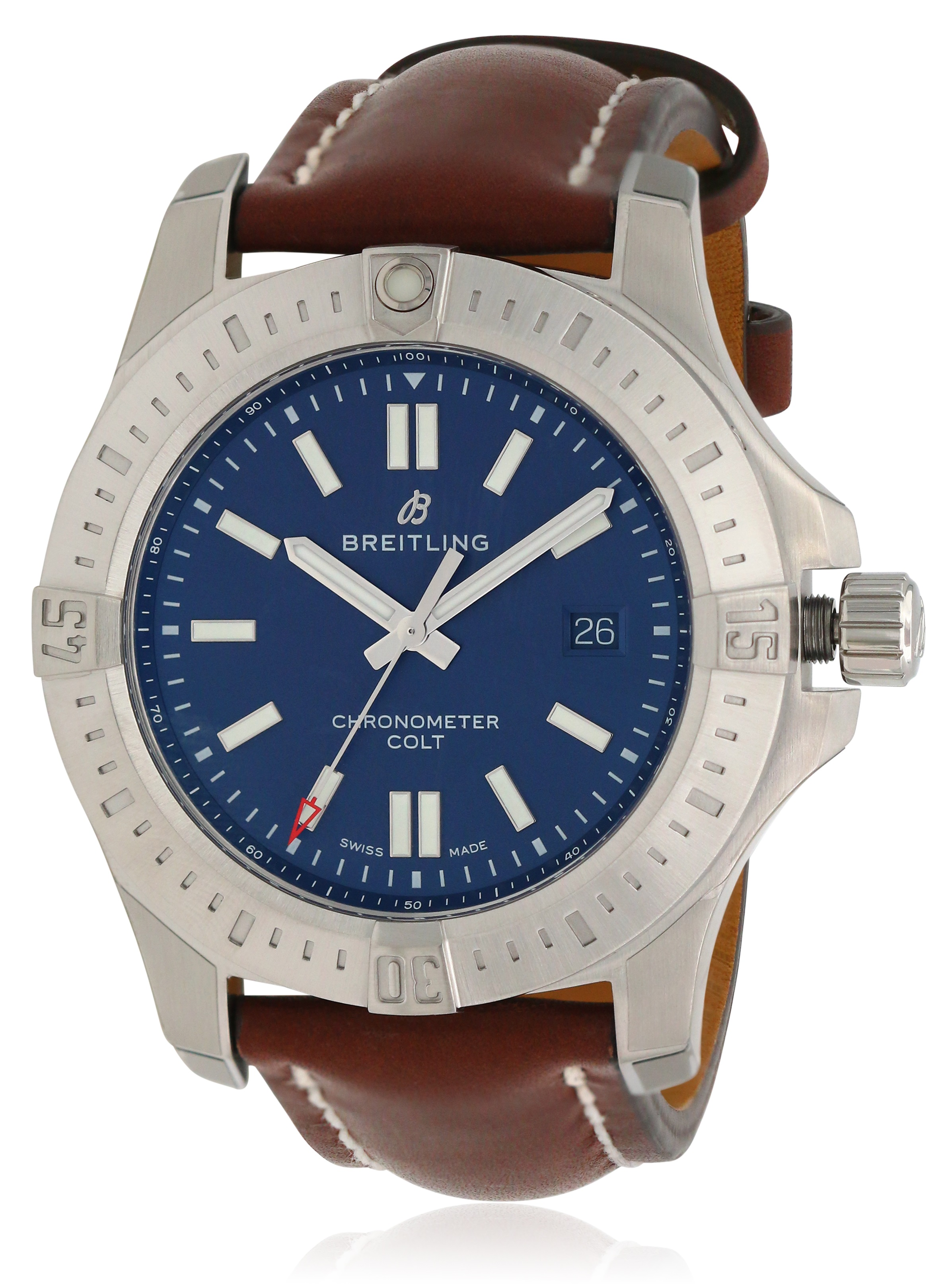 Breitling Chronomat Colt Automatic Leather Mens Watch A17388101C1X2