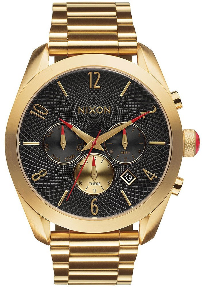 Nixon Bullet Chronograph Gold-Tone Ladies Watch A366510
