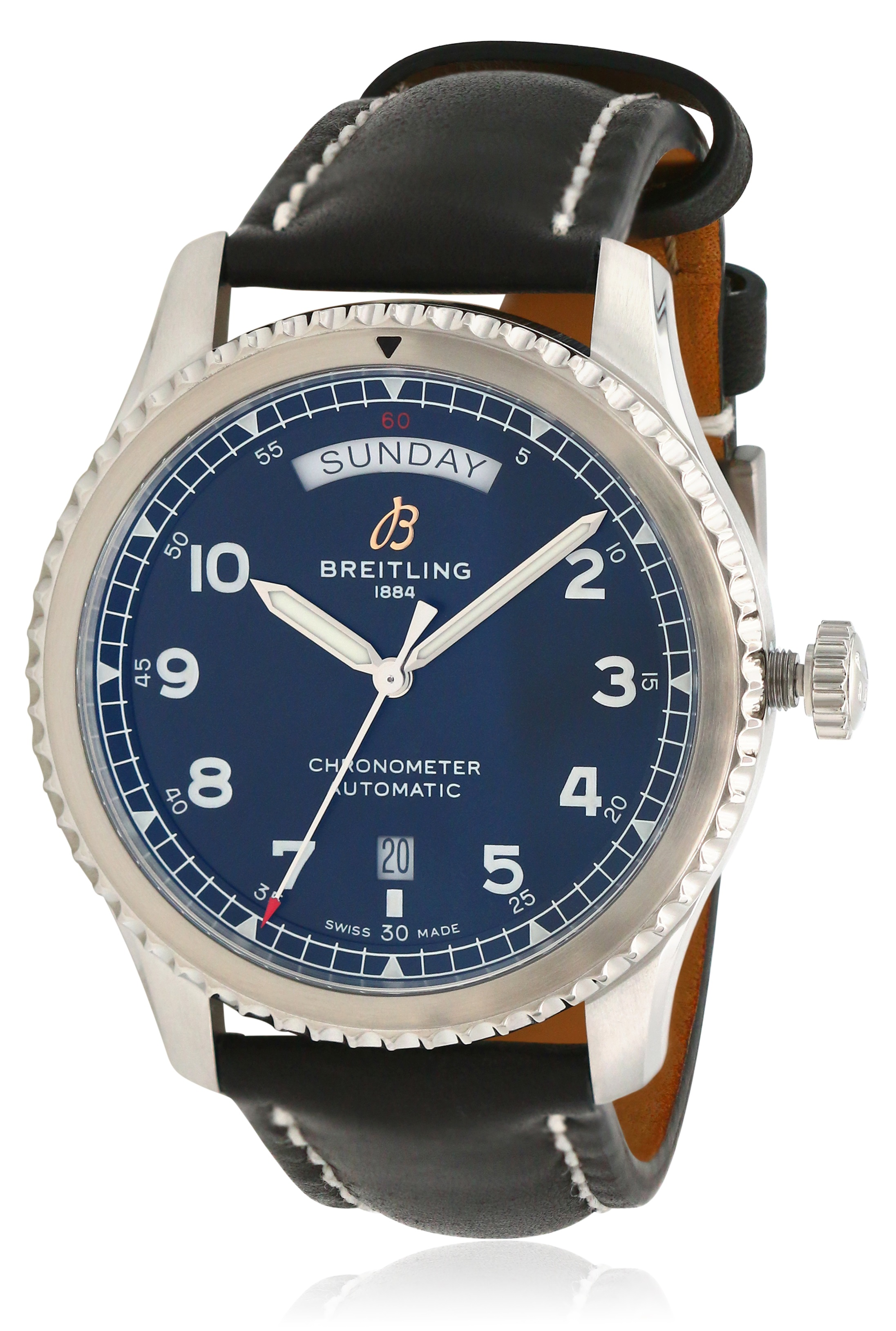 Breitling Navitimer 8 Automatic Chronometer Leather Mens Watch A45330101B1X1
