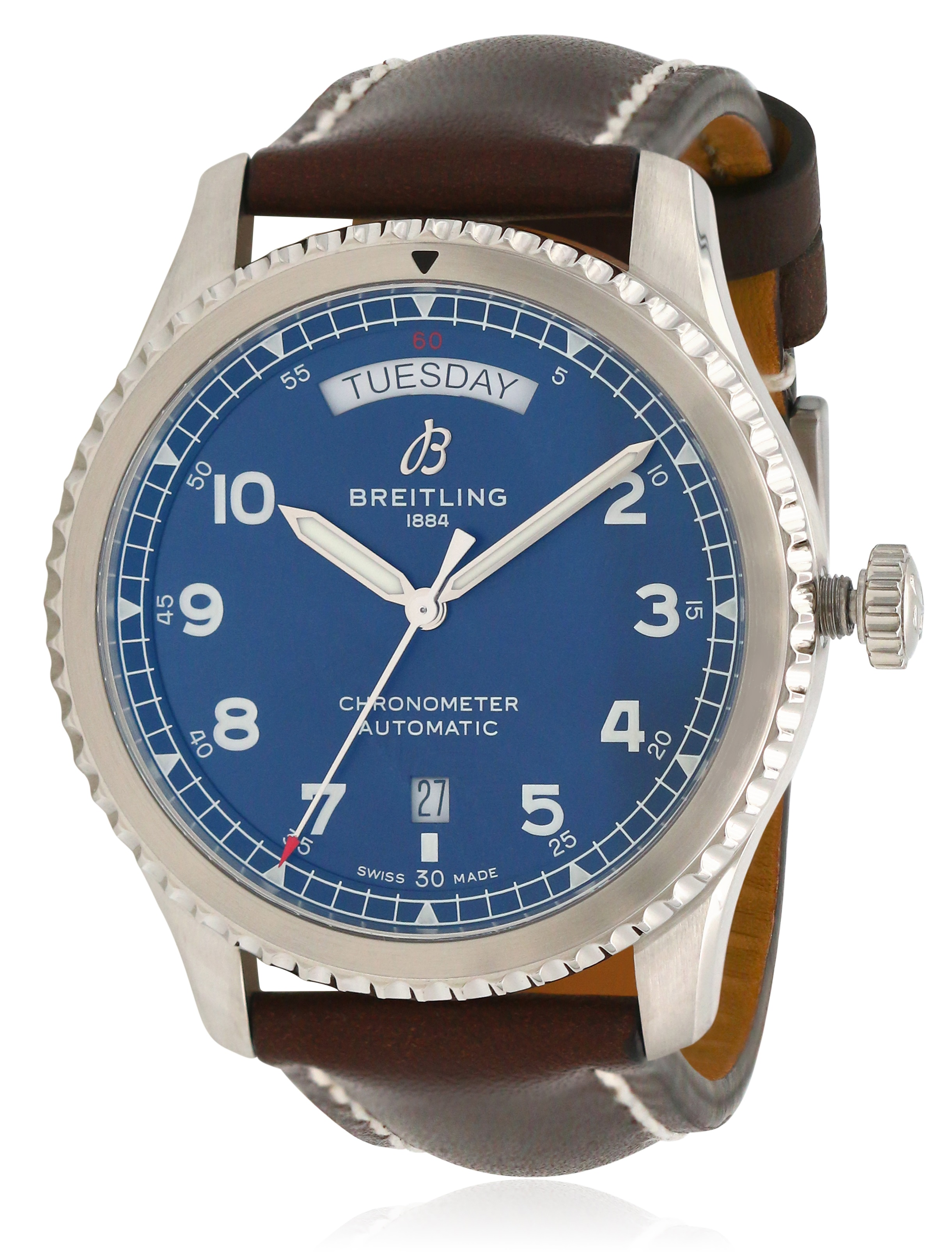 Breitling Navitimer 8 Automatic Chronometer Leather Mens Watch A45330101C1X2