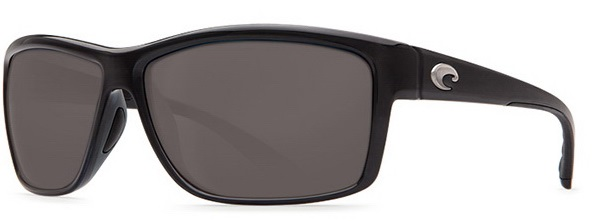 Costa Del Mar Mag Bay Polarized Shiny Black Sunglasses - AA-11-OGP