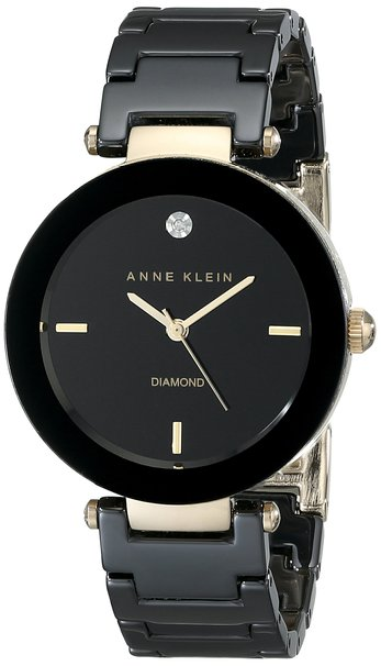 Anne Klein Ceramic Ladies Watch AK-1018BKBK