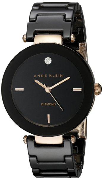 Anne Klein Ceramic Ladies Watch AK-1018RGBK