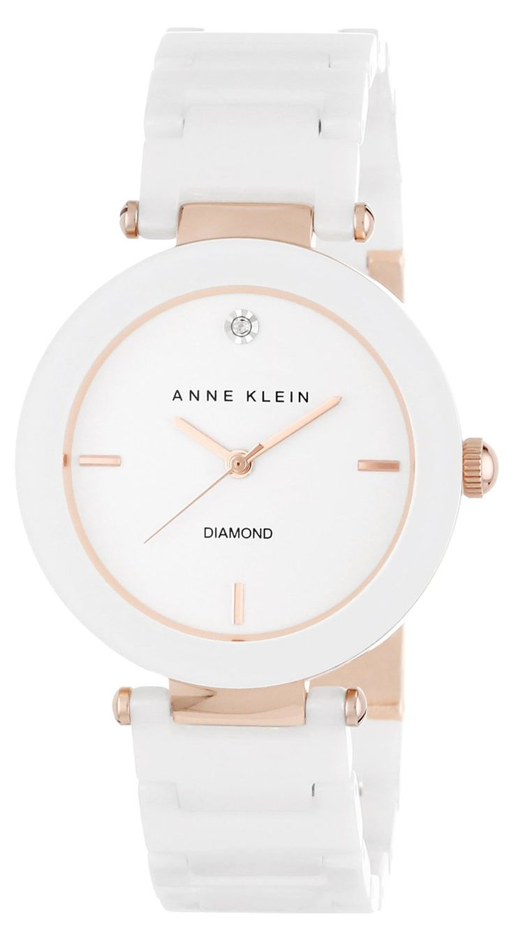 Anne Klein Ceramic Ladies Watch AK-1018RGWT