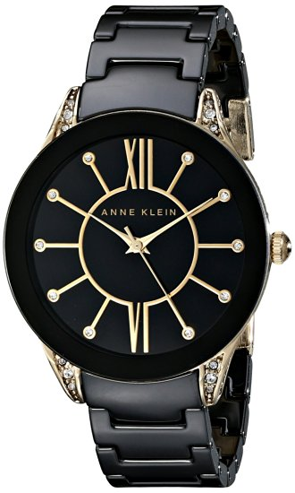 Anne Klein Ceramic Ladies Watch AK-1672BKGB