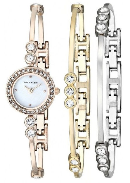 Anne Klein Bracelet and Ladies Watch AK-1690TRST