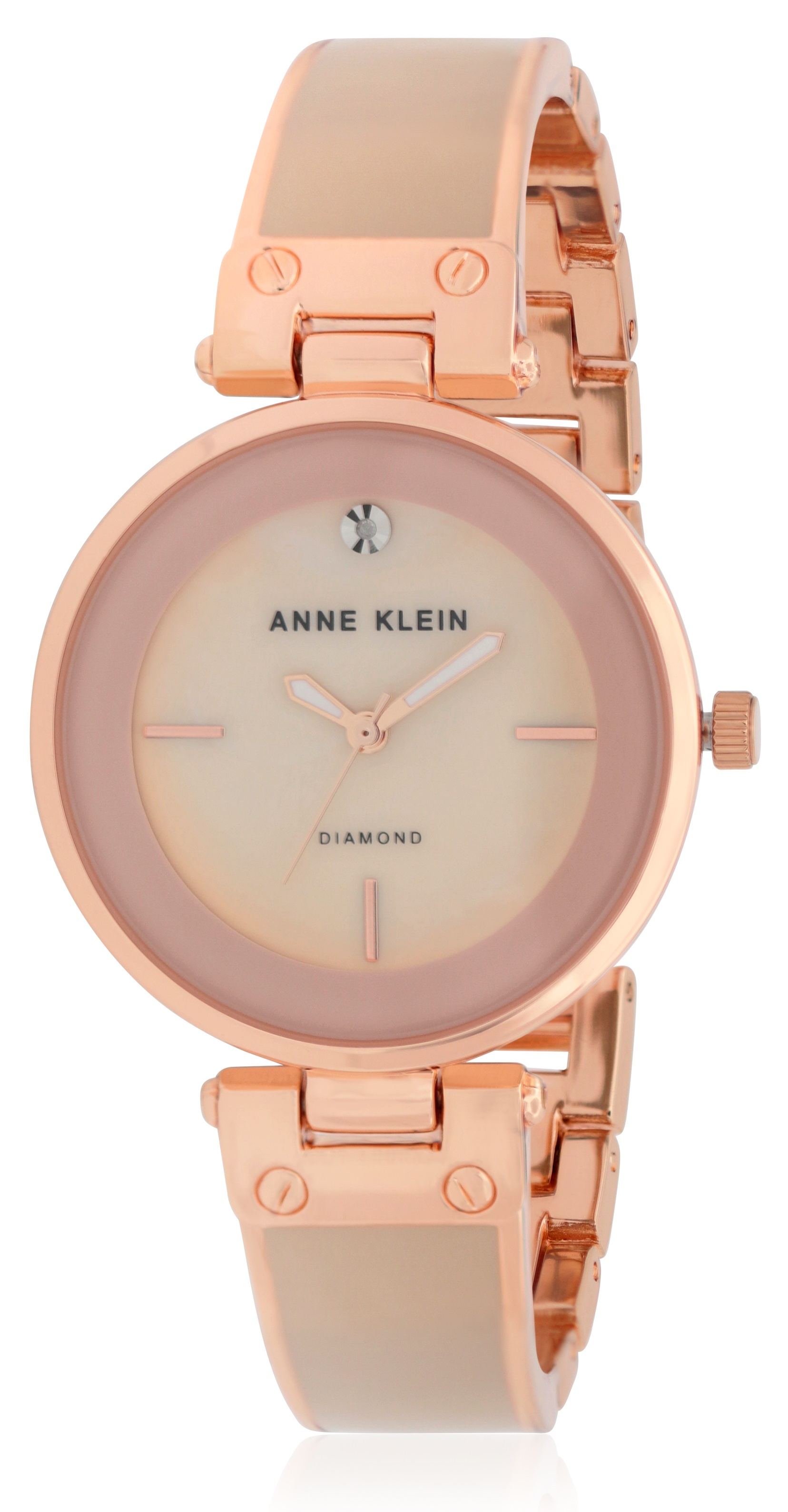Anne Klein Classic Crystal Ladies Watch AK-2898BHRG