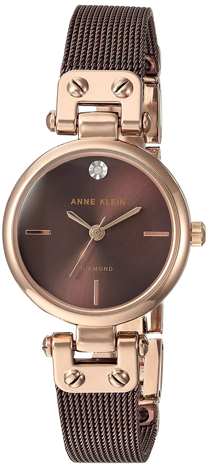 Anne Klein Brown Stainless Steel Ladies Watch AK-3003RGBN