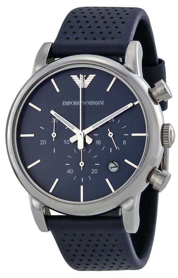 Emporio Armani Classic Leather Chronograph Mens Watch AR1736