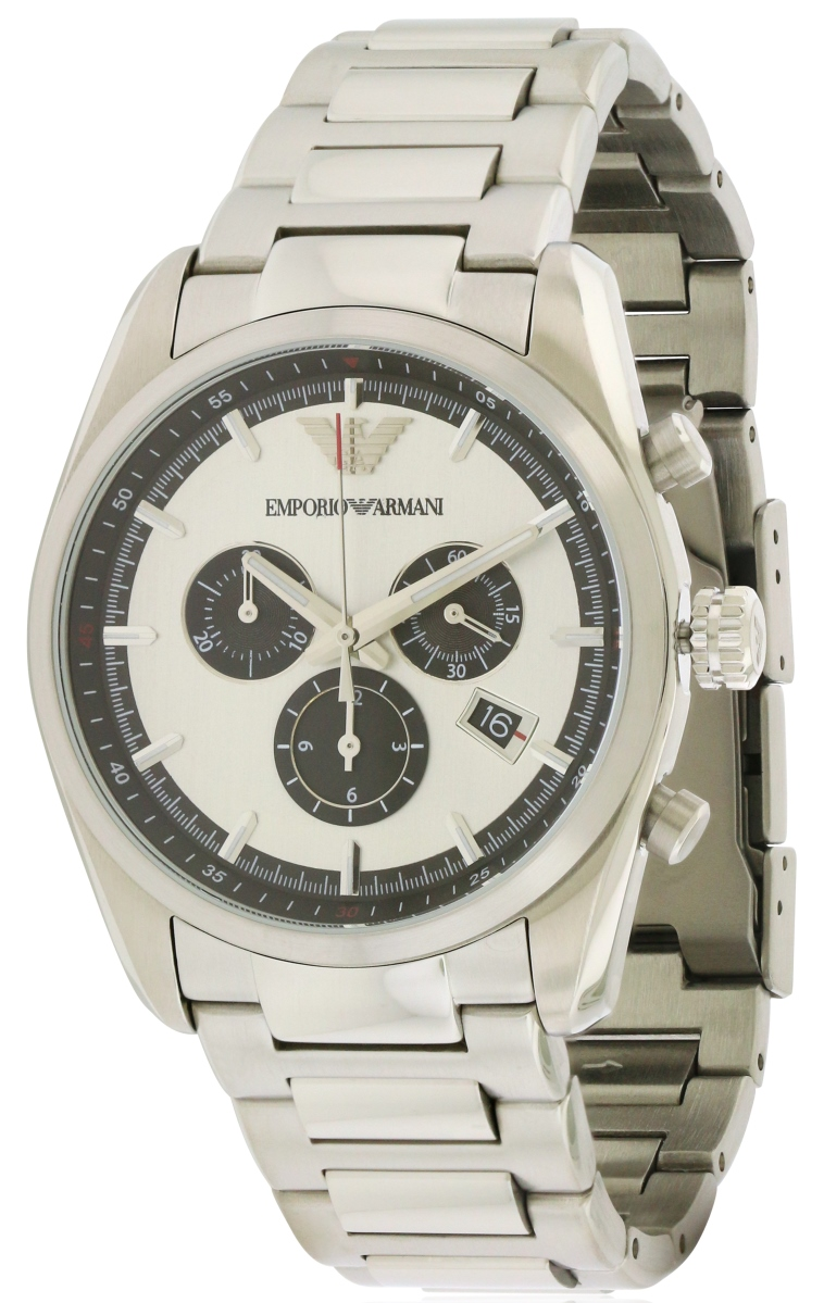 Emporio Armani Stainless Steel Chronograph Mens Watch AR6007