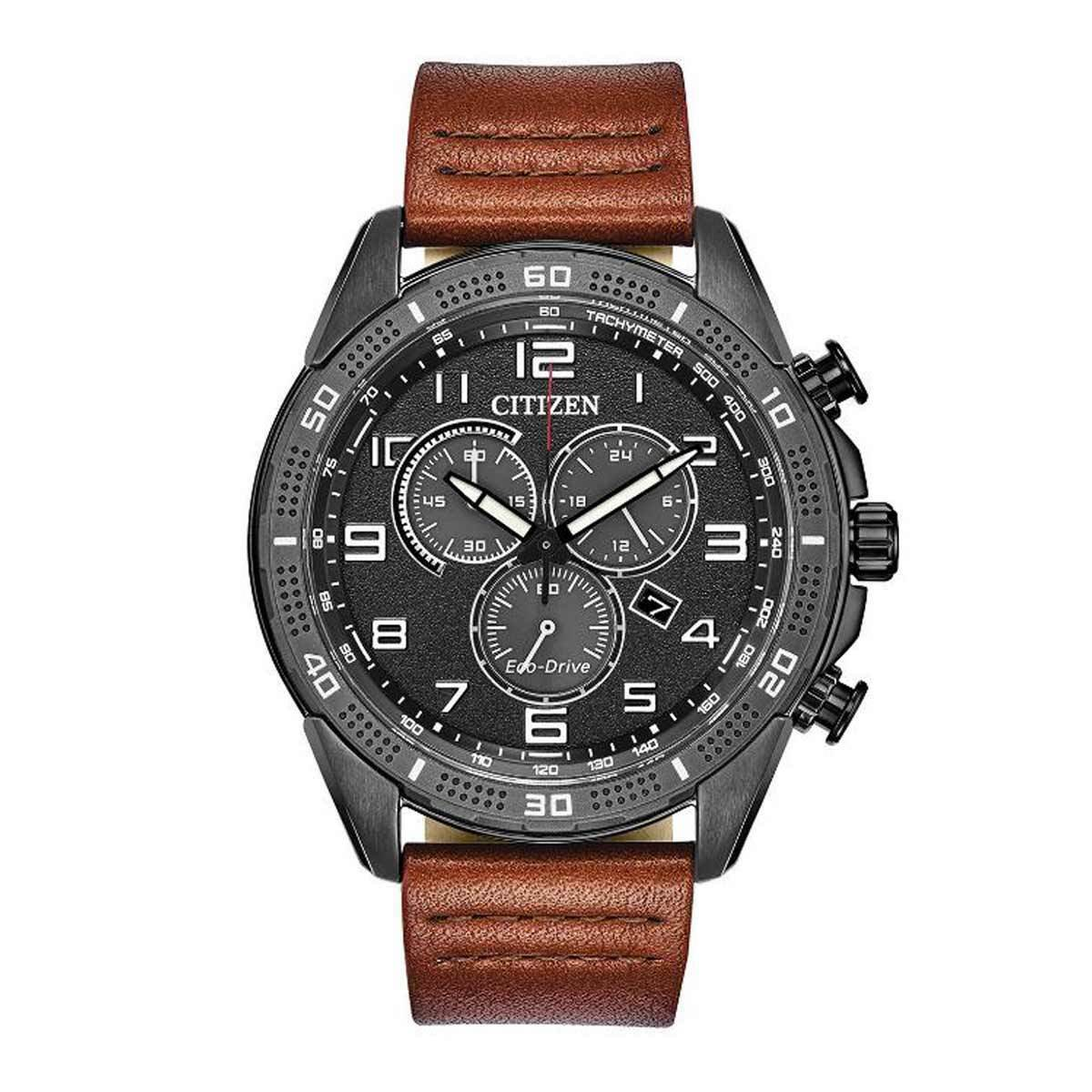 Citizen Drive Chronograph Leather Mens Watch