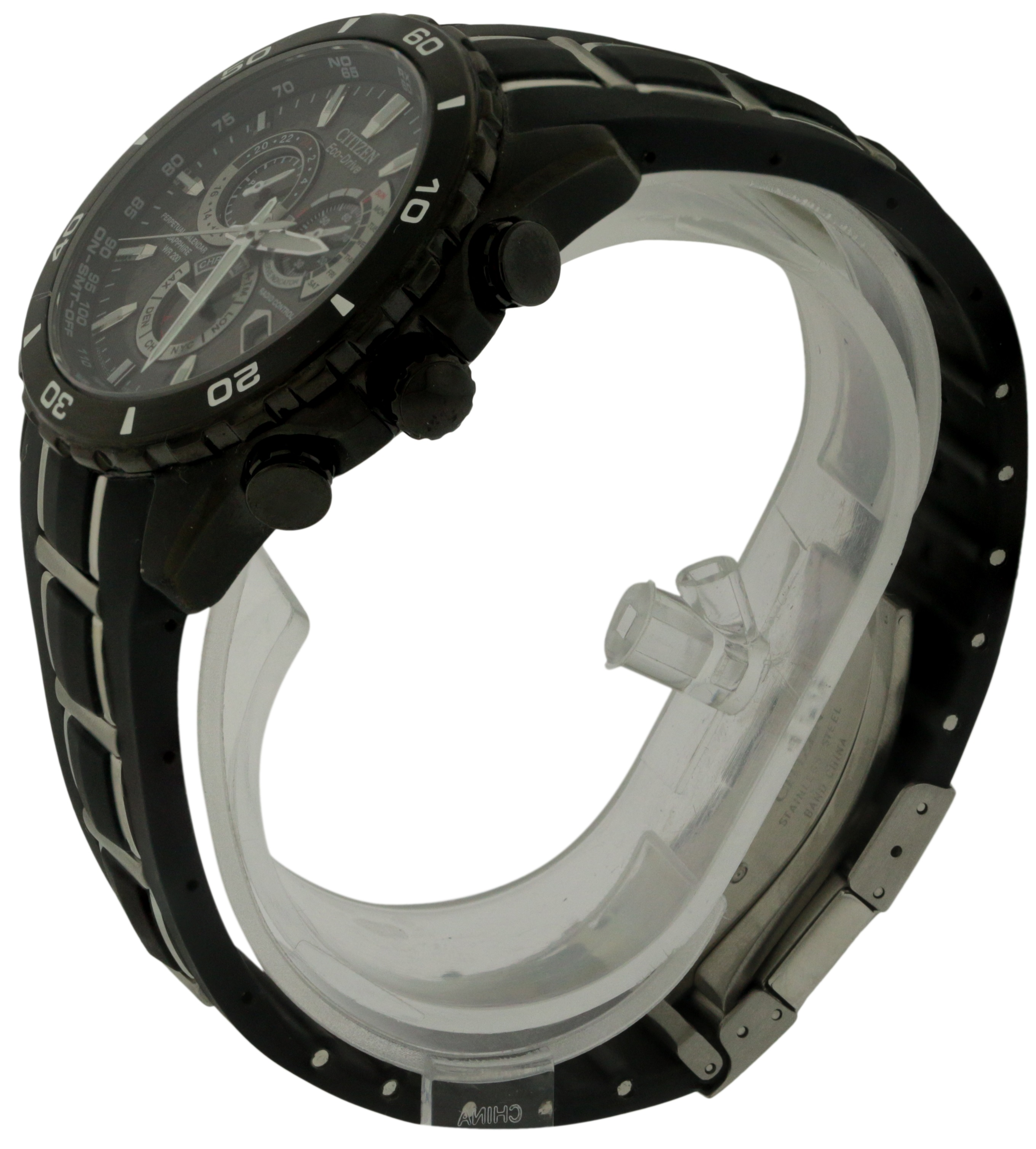 8e86a757d Citizen Eco-Drive Limited Perpetual Chrono Atomic A-T Mens Watch  AT4027-06E, Solar Time Inc