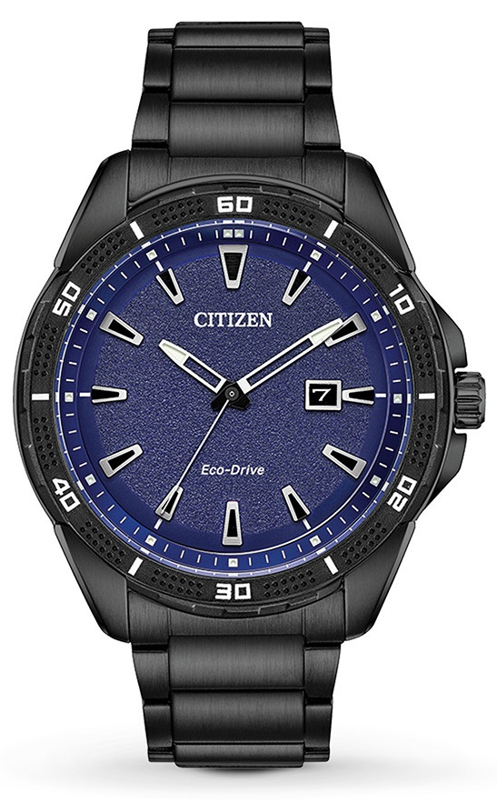 Citizen Drive Black Stainless Steel Mens Watch AW1585-55L