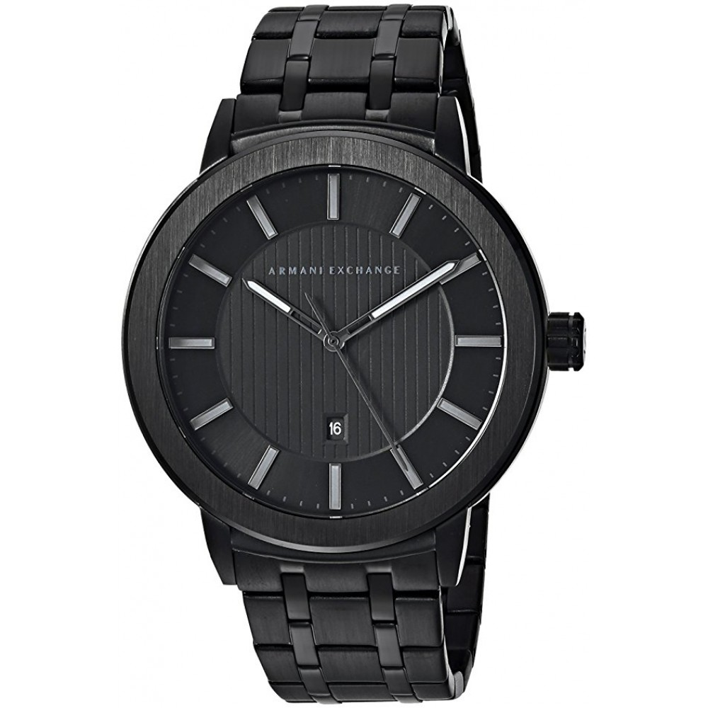 Armani Exchange Maddox Black Stainless Steel Mens Watch AX1457