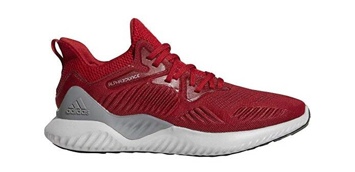 adidas Mens Alphabounce Beyond Team Running Shoe Power red/White/Black 12.5