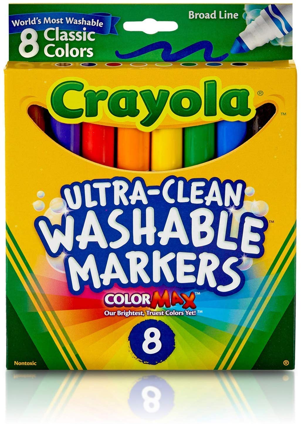 Crayola Ultra-Clean Washable Markers - Broad Line - 8 Count