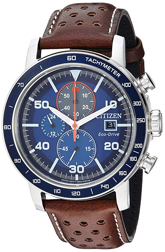 Citizen Brycen Leather Chronograph Mens Watch
