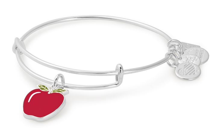 Alex and Ani Apple Charm Bangle - Blessings in a Backpack - Shiny Silver - CBD17APSS