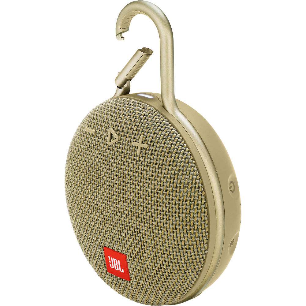 JBL Clip 3 Portable Waterproof Wireless Bluetooth Speaker - Sand - CLIP3-SAND