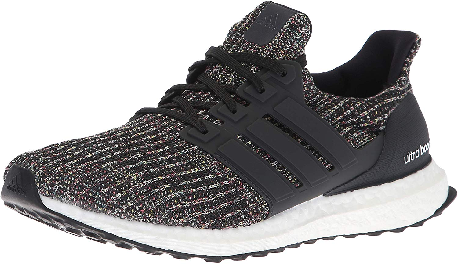 adidas Mens Ultraboost Running Shoe - Black/Carbon/Ash Silver - Size 11.5