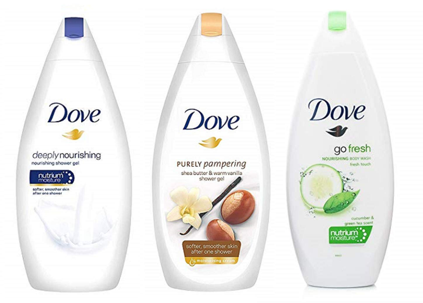 Dove Body Wash Variety Pack - Pack of 3