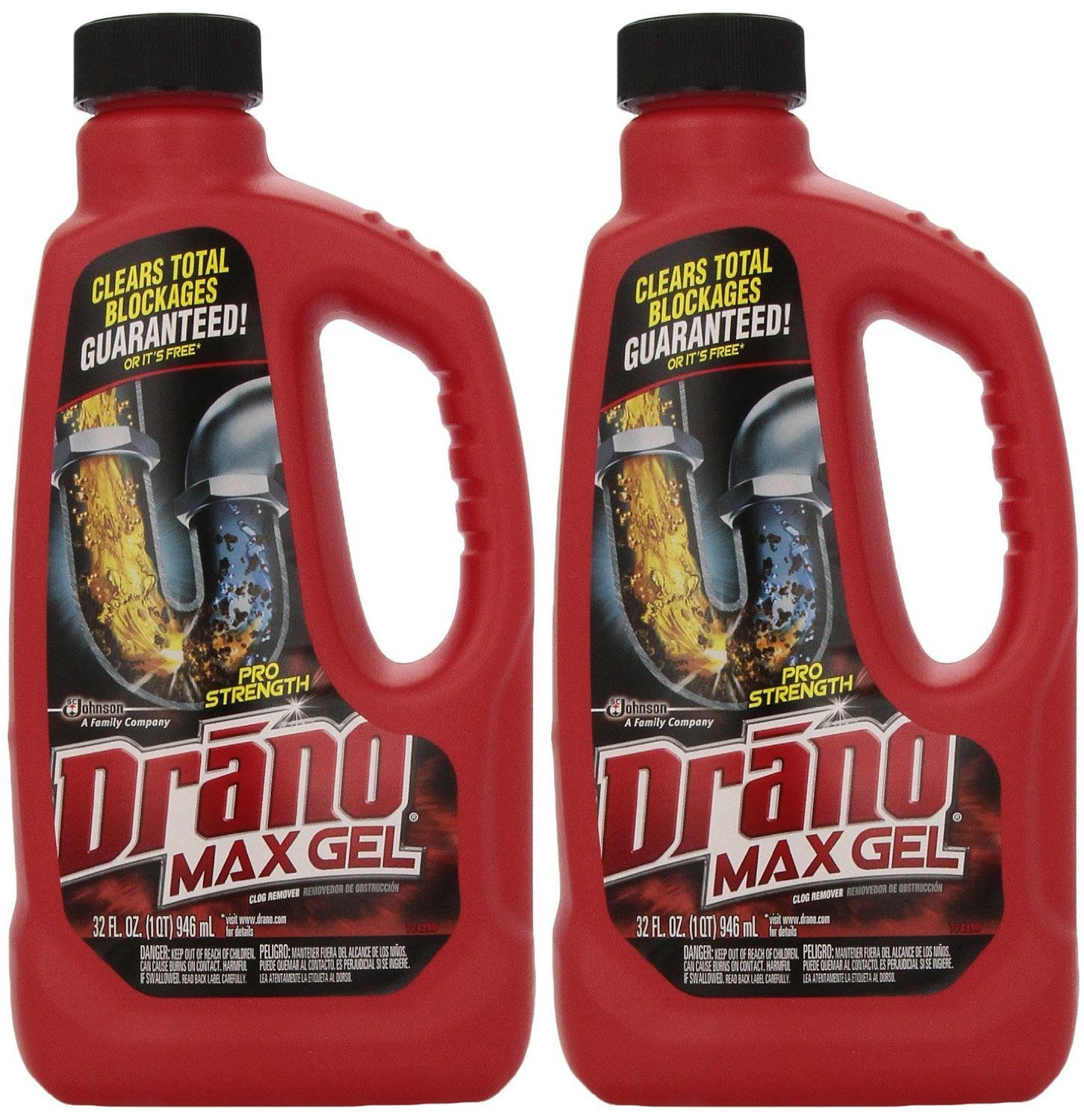 Drano Max Clog Remover (Pack of 2) 32 oz