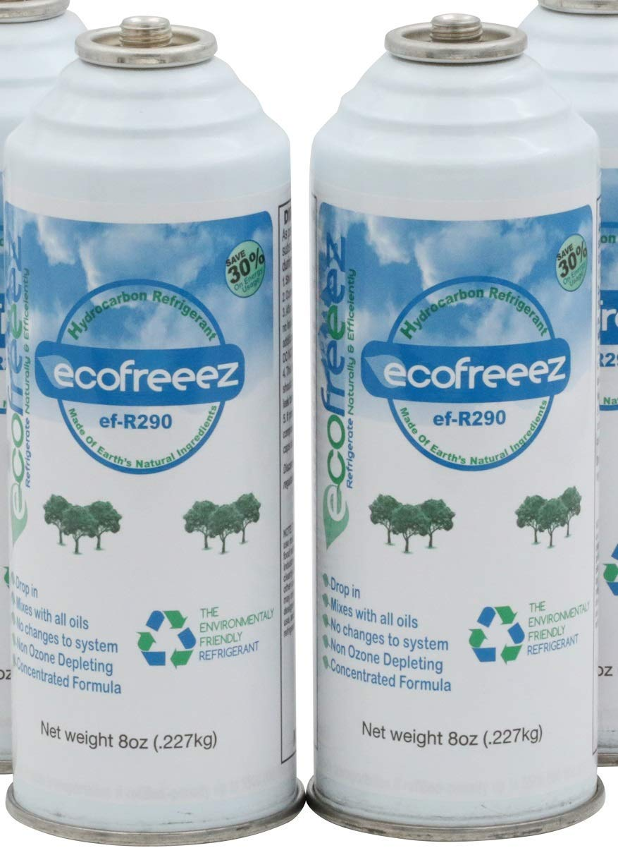 Ecofreeez ef-R290 Hydrocarbon Refrigerant Natural & Environmental Friendly Non Ozone DEPLETING 8 oz cans 2 Pack