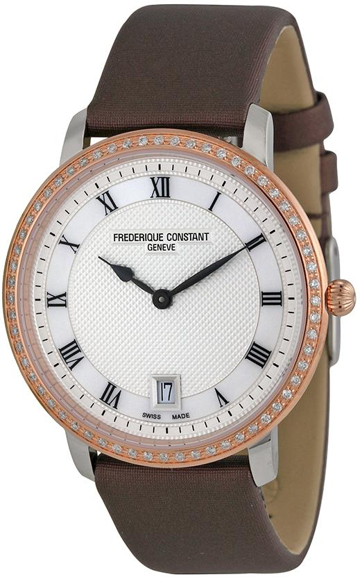 Frederique Constant Slim Line Satin Ladies Watch FC-220M4SD32