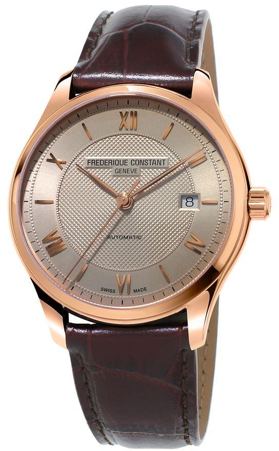 Frederique Constant Classics Automatic Leather Mens Watch FC-303MLG5B4