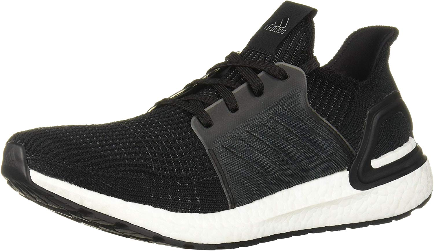 adidas Mens Ultraboost 19 Running Shoe - Black/White - Size 12
